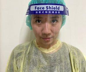 拋棄式簡易護面罩